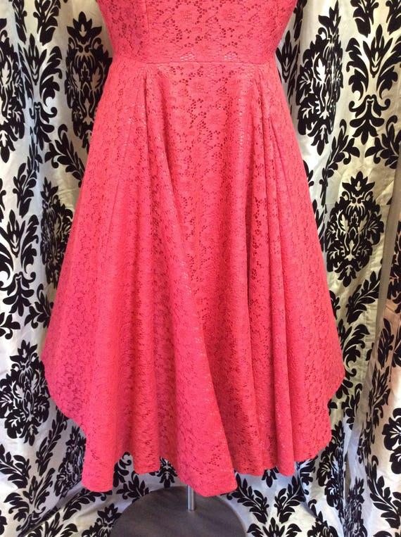50's Strawberry Lace Dress - image 6