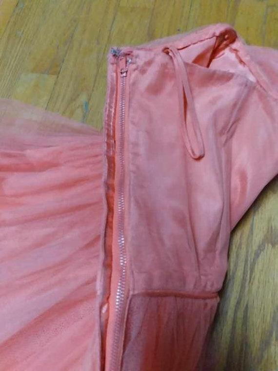 50's Salmon Tulle Dress Formal Prom-wear - image 8