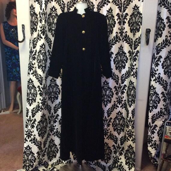60's Full length Velvet Coat