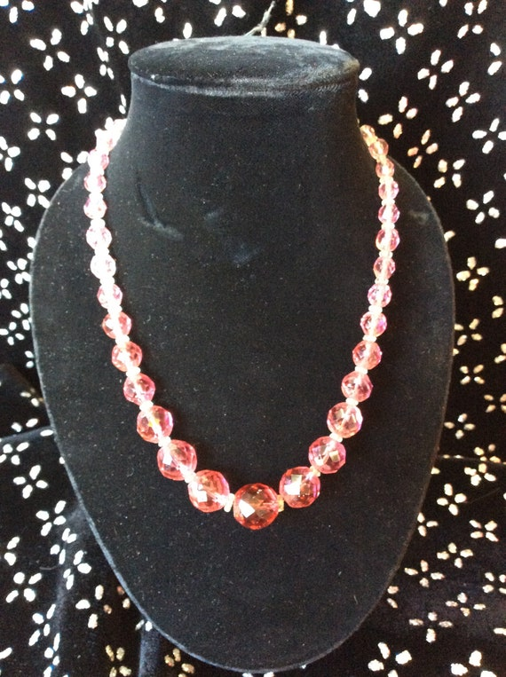 40s Pink Glass Beads