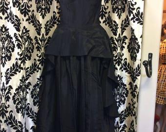 30 noir Satin robe de soirée/robe de bal