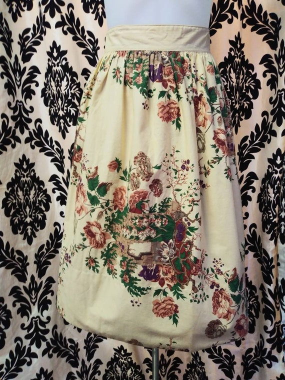 50's Floral Skirt