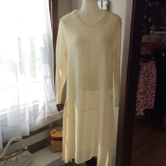 1920's Ivory Wedding Dress in Rayon
