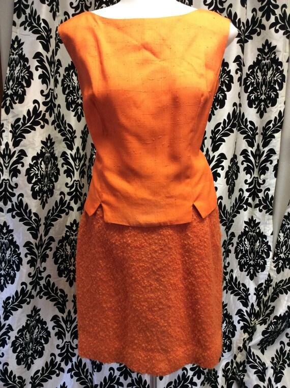 Unique Orange Lilli Ann 3 piece suit - image 2