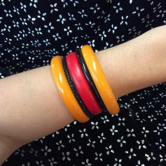 2 Marigold Bakelite Bracelet - image 2