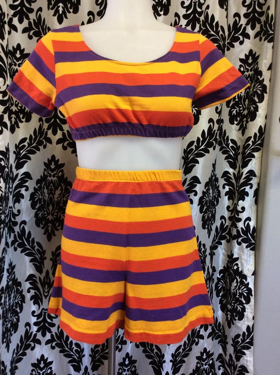 Incredible 1960's Striped Playsuit