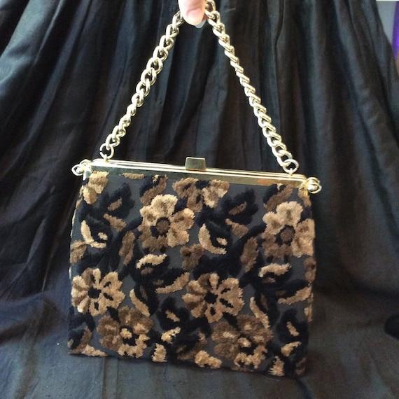 Reversible 1950's Carpet Bag