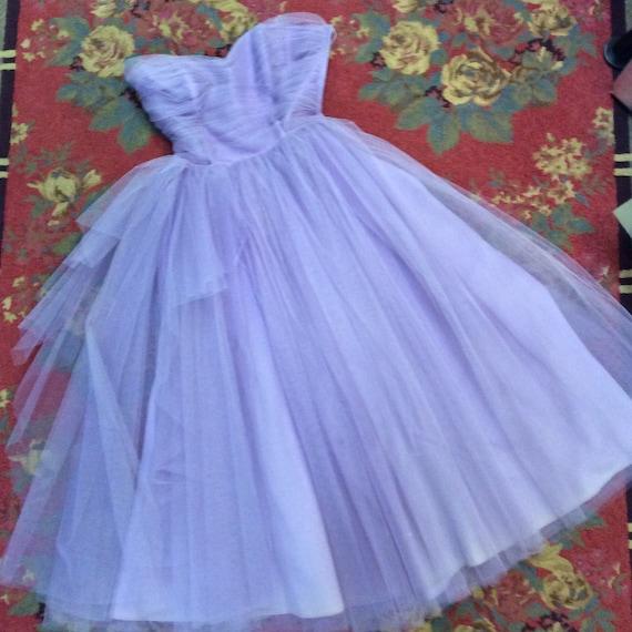 50s Lavender Tulle Dress
