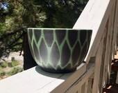Jade on Black Snake Skin Ceramic Planter (Rounded Bowl) Succulent Planter, Cactus Planter, Herb Pot, Flower Pot