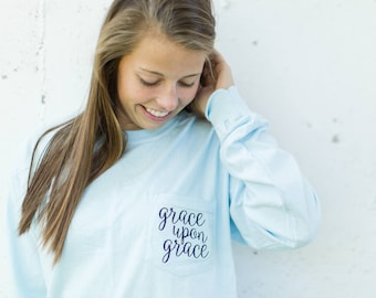 Grace Upon Grace Graphic Comfort Colors Tee