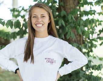 But first, Coffee Graphic Comfort Colors Tee