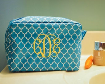 Monogram Makeup Bag- Large