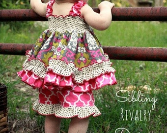HALF OFF SALE Baby Layne's Ruffle Shorts pdf Pattern Sizes Newborn to 18/24m