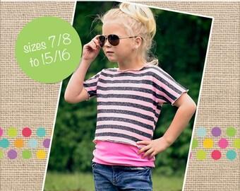 61e1ecea433a9 Neve s Tween Crop Top T‐Shirt PDF Pattern sizes 7 8 to 15 16 Tween girls