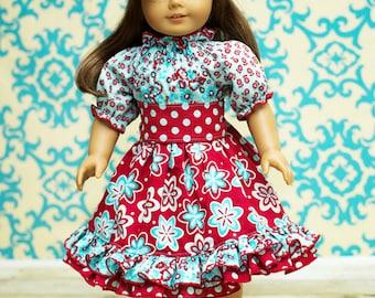 Demi's Ruffled Peasant Dress PDF Pattern Doll Sizes