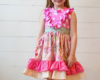 Karley's Knit Tank Dress PDF Pattern Sizes 6-12m to girls 8