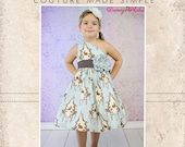 Paris 39 Party Dress PDF Sewing Pattern sizes Newborn to 8 Kids Plus FREE Doll Pattern