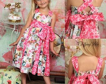 Gwen's Sweetheart Godet Dress PDF Pattern size 6-12 months to size 8