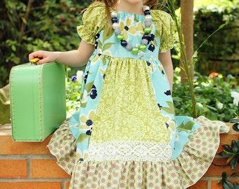 Molly's Faux Apron Peasant Dress PDF Pattern size6-12 months to size 8