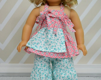 Bridgette's Palazzo Pants and Capris and Lucy's Apron Knot Dress PDF Patterns in Doll Sizes