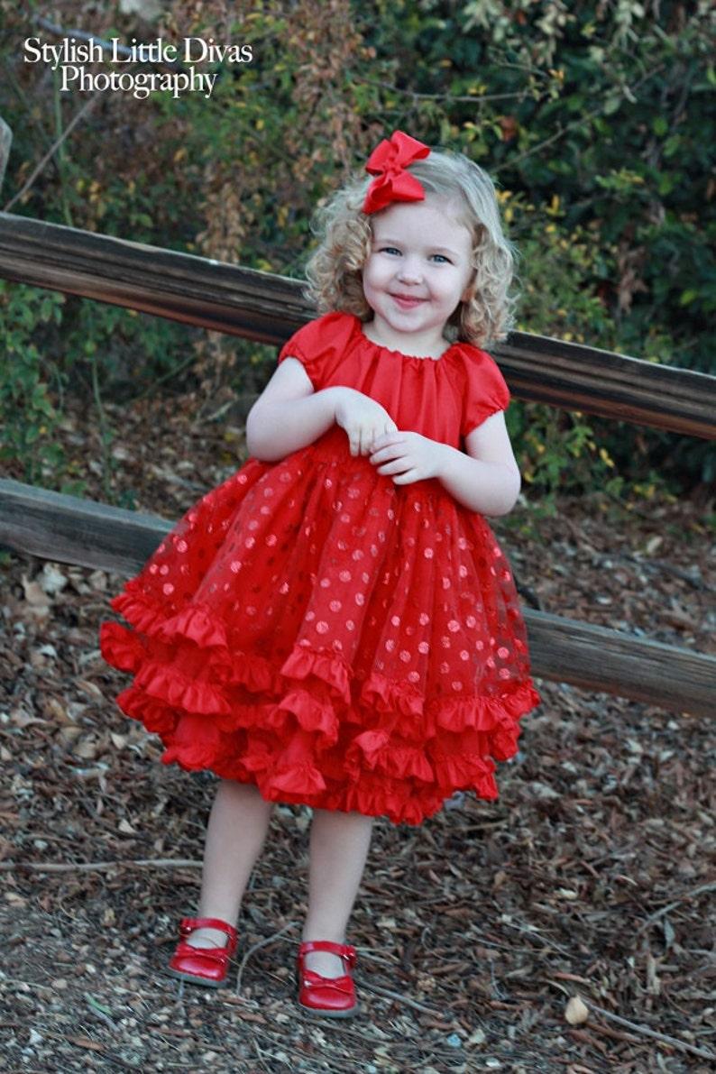 Shirley's Fabric Petti Dress and Top PDF Pattern Sizes image 0