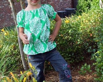 Brinley's Bubble Tunic Top PDF Pattern size 6/12 months to size 8