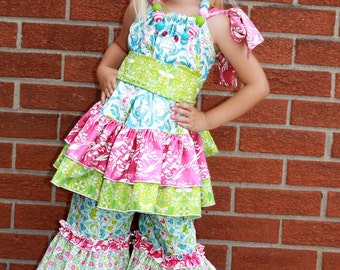 Harper's Pillowcase Ruffle Top and Dress PDF Pattern size 6/12 months to size 8