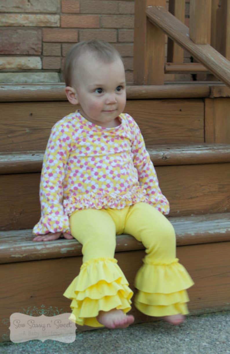 5be97c7fb Baby Kelsey s Triple Ruffle Leggings PDF Pattern Sizes