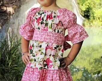 Malyn's Pretty Peasant Dress PDF Pattern size 6-12 months to size 8