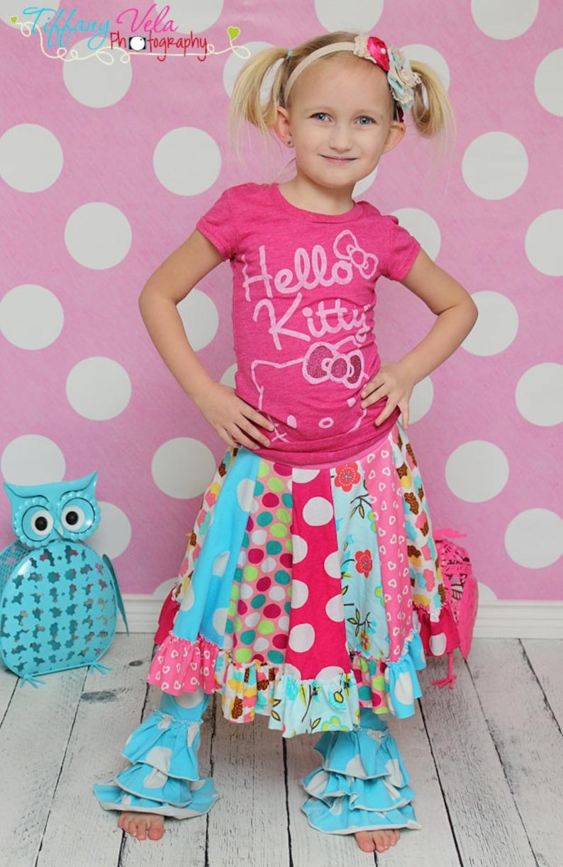 Aylah's knit twirly circle skirt PDF Pattern NEW sizes   Etsy