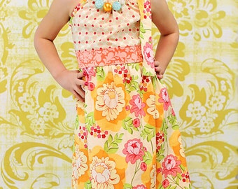 Paulette's Pillowcase Maxi Dress PDF Pattern - Sizes 6/12m to 8 girls