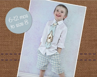 Xavier's Summer Shorts PDF Pattern size 6-12 months to size 8