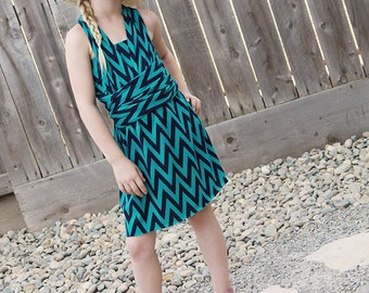 Harlow's Girls Boutique Infinity Dress PDF Pattern Sizes 6-12m to 8 Girls