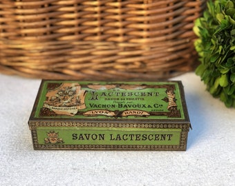 **SALE** Dollhouse Miniature Size Victorian French Milled  Soaps Box