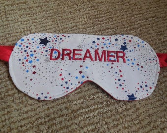Embroidered Sleep Mask