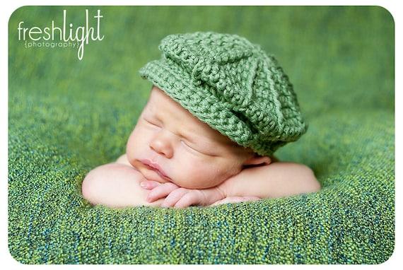 Crochet Baby Newsboy Hat Pattern For Newborn To Toddler Etsy
