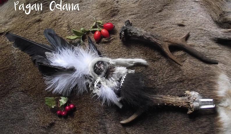 Norse Forest Goddess Soul Doll  shaman nature spirit Bear image 0