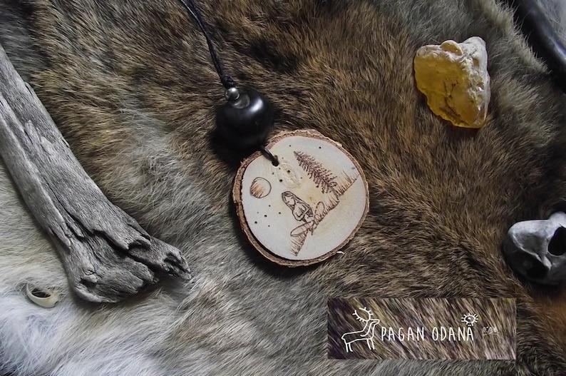 Woodland Spirit necklace Mother Earth necklace goddess image 0