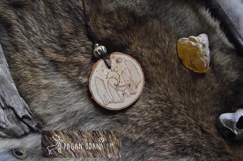 Standing stones celtic necklace Cernunnos ritual necklace image 0