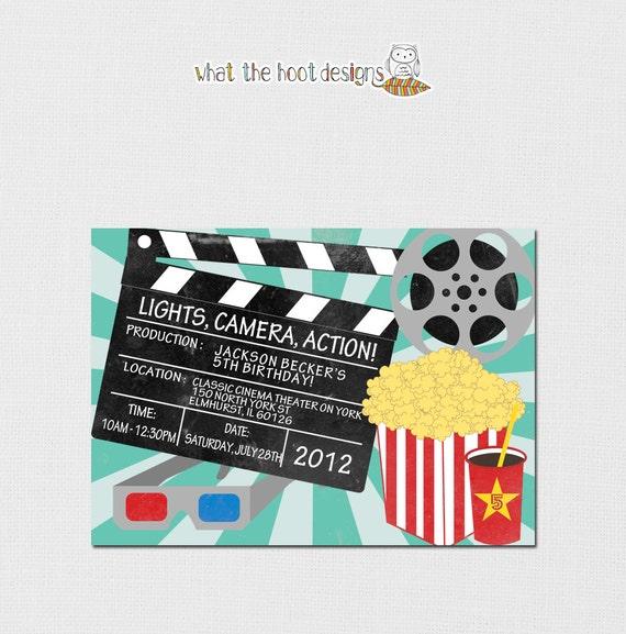 Items Similar To Printable/DIY Movie Night Invitation