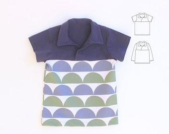 Grunge T Shirt Boy Girl Pattern Pdf Sewing V Neckline Raglan Etsy