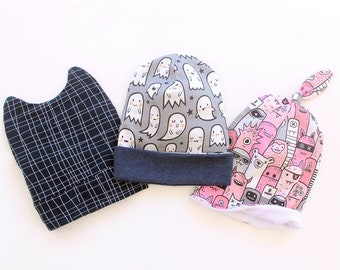 734a4cada1f564 MONSTER Hats preemie-10yrs, Children Hat, Boy Girl Hat in THREE Versions,  Fully lined and Unlined Hat