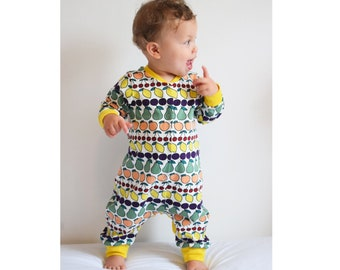d643e99b14f Jersey AND Woven Romper Baby Boy and Girl Romper Pajamas pattern