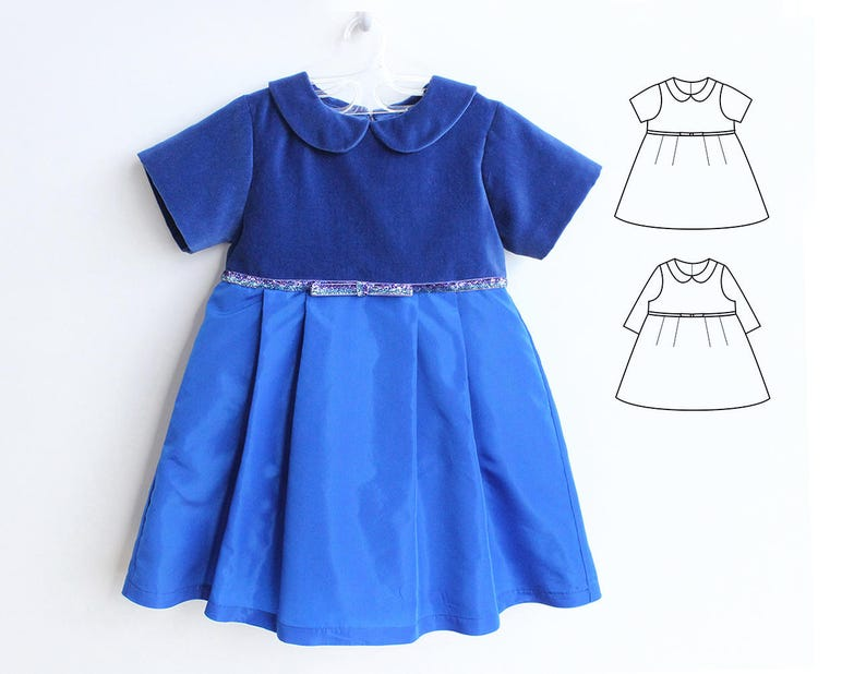d0fe864091112 JULIETTE Girl Baby Girl Dress pattern Pdf sewing, Woven Dress pattern Short  and Long Sleeves, toddler, newborn up to 10 yrs
