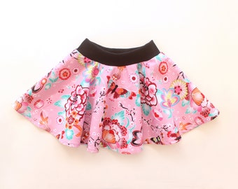Jersey & Woven Circle Skirt pattern   newborn - 10yrs   BUTTERFLY Skirt, Girl Baby Girl Circle Skirt pattern Pdf sewing, Toddler skirt