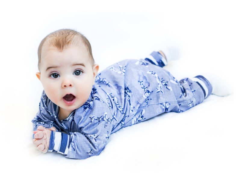 50701cbf0 CATNAP Baby Boy and Girl Romper Pajamas pattern Jersey AND   Etsy