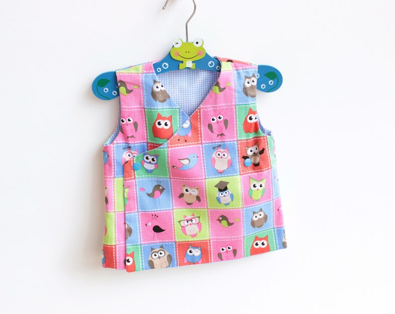8bb2a407b DEER Baby Kimono Top Vest Apron pattern Pdf sewing pattern, Baby Boy Girl  pattern, toddler Vest pattern, newborn 3 6 9 12 18 m 2 yrs
