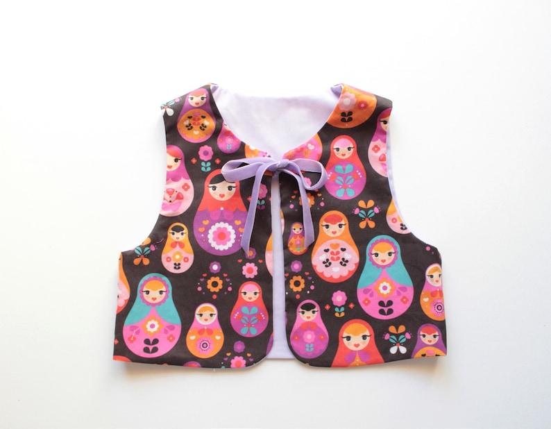 4cdc36520 Baby Girl Vest MATRYOSHKA pattern sewing pattern Pdf , Easy Vest pattern,  toddler, Girl newborn 3 6 9 12 18 m 2 3 4 5 6 7 8 9 10 yrs