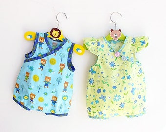 TEDDY's Baby Romper pattern Pdf sewing , Woven Bubble Romper pattern Dungaree Overall, Flutter Sleeve, Toddler newborn 3 6-9 12 18m 1, 2yrs