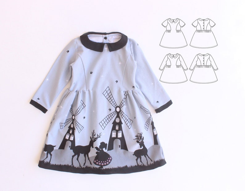 STEAMPUNK Girl Baby Girl Dress pattern Pdf sewing Jersey AND image 0